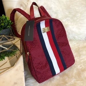 Tommy Hilfiger red logo Backpack 🎒